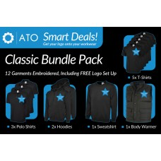 AT Classic Bundle includes 12 Embroidered Garments