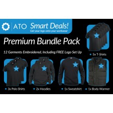 AT Premium Bundle includes 12 Embroidered Garments